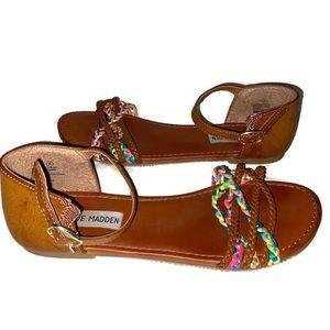 Steve Madden gladiator sandals rainbow braid sz 5